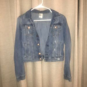 H&M Cropped Denim Jacket